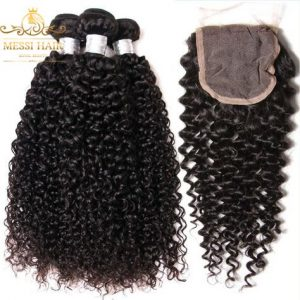 steam-curly-hair-weave-with-closure