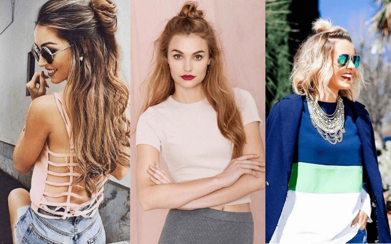 half-bun-curly-hair