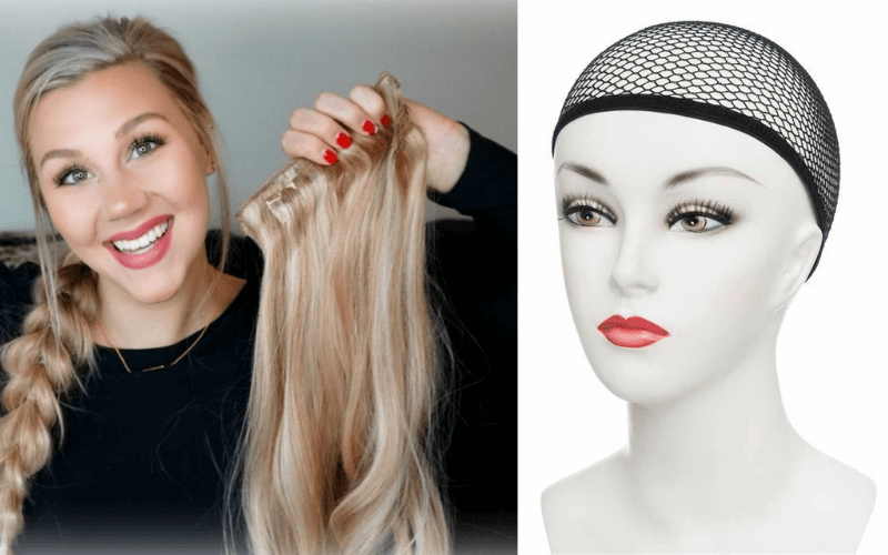 prepare-hair-extension-and-a-wig-cap-how-to-braid-a-wig