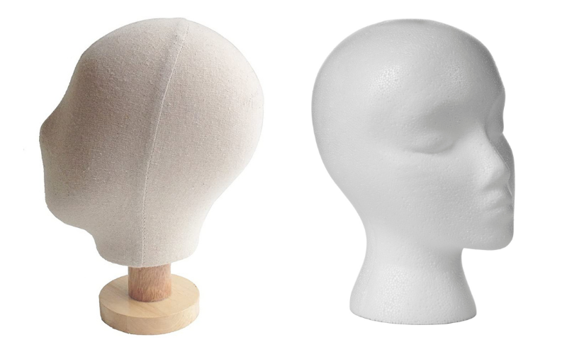 fabric-covered-mannequin-head-and-foam-mannequin-head