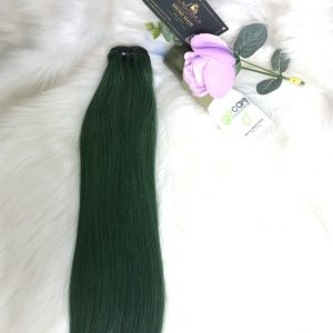 green-colored-weft-hair